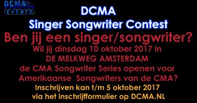 Hot News!! DCMA Singer Songwriter Contest.